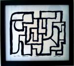 Hypercubist Paintings combining Escher and Abstract Expression
